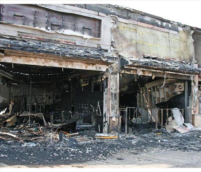 Five stores destroyed by fire